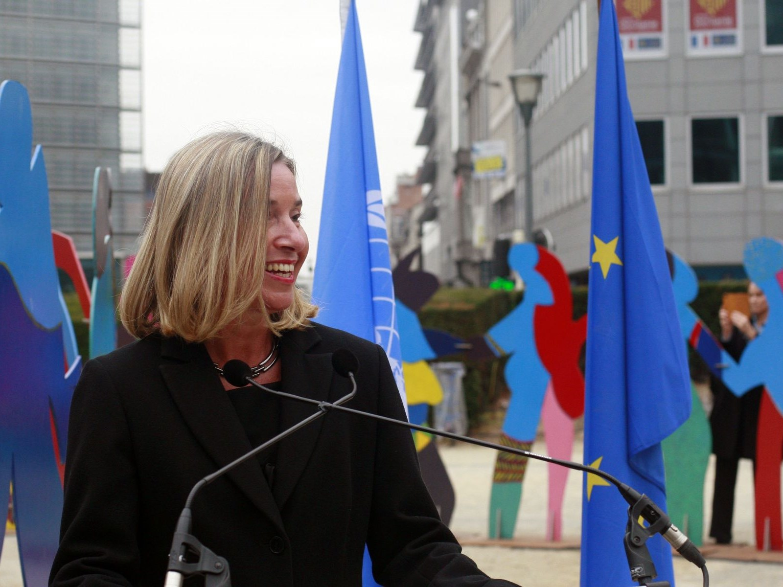 the speech of EU foreign policy chief Federica Mogherini